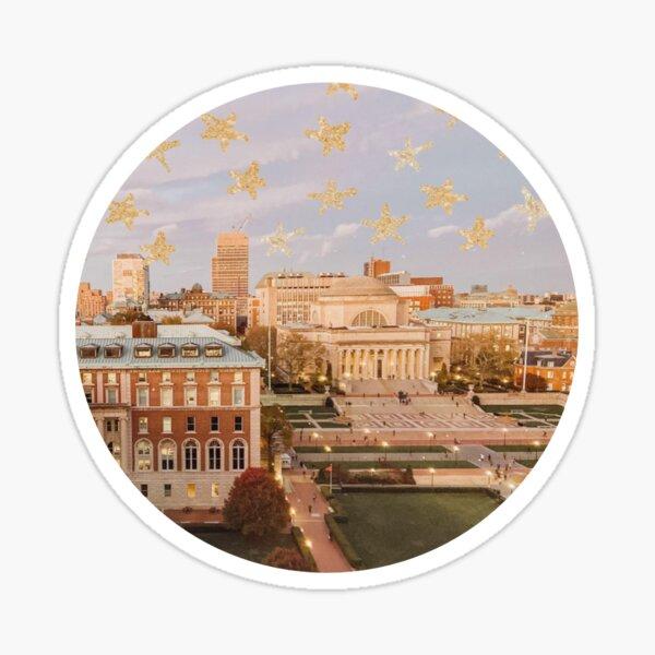 Columbia University Columbia College New York City Glitter Stars Sticker