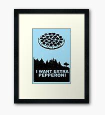 Xtra-Pepperoni Framed Print