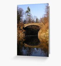 Sackett Footbridge, Beebe Lake, Cornell Greeting Card