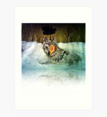 Brave Wolf Art Print