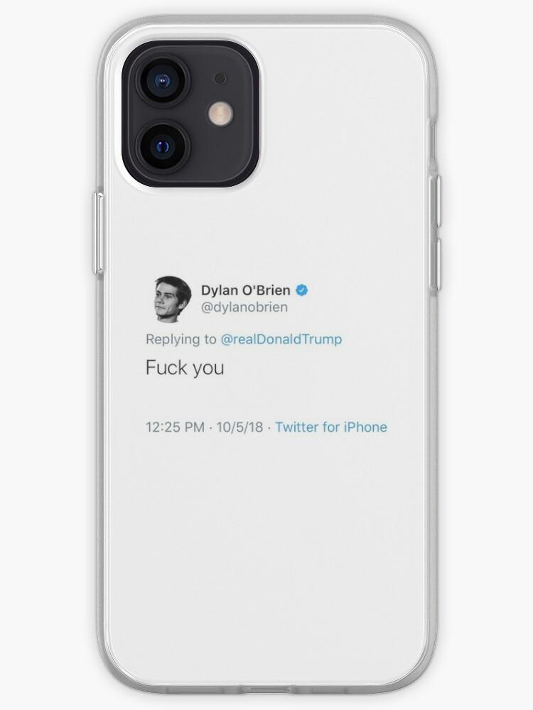 Dylan O'Brien Trump Hate tweet | iPhone Case & Cover