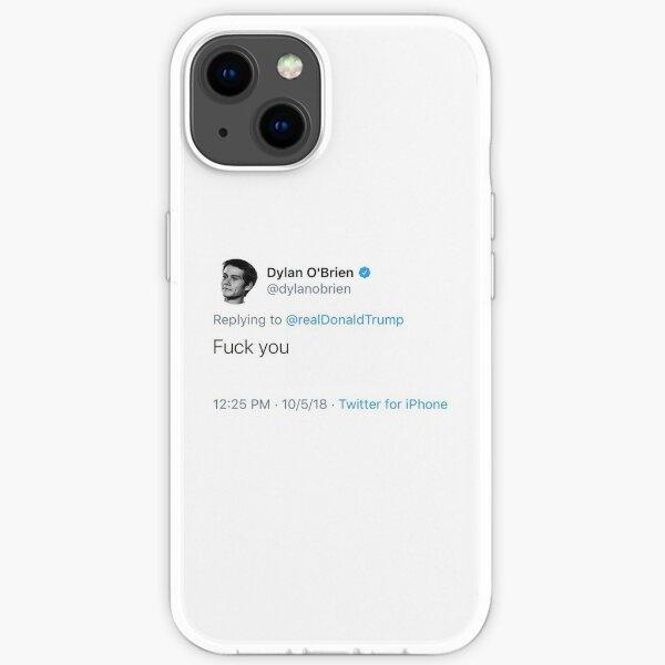 Tuit de Dylan O'Brien Trump Odio Funda blanda para iPhone