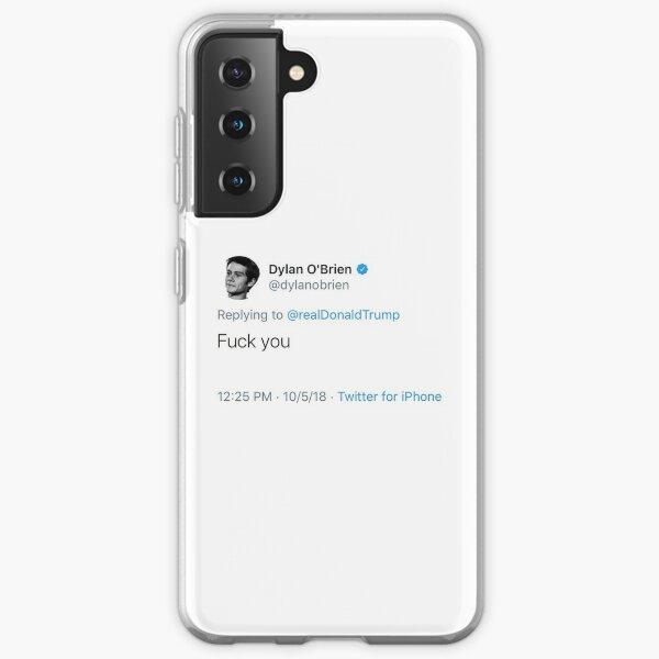 Dylan O'Brien Trump Hate tweet Coque souple Samsung Galaxy