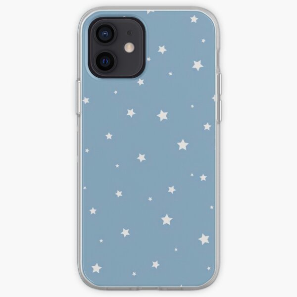 White Stars with Blue Background iPhone Soft Case