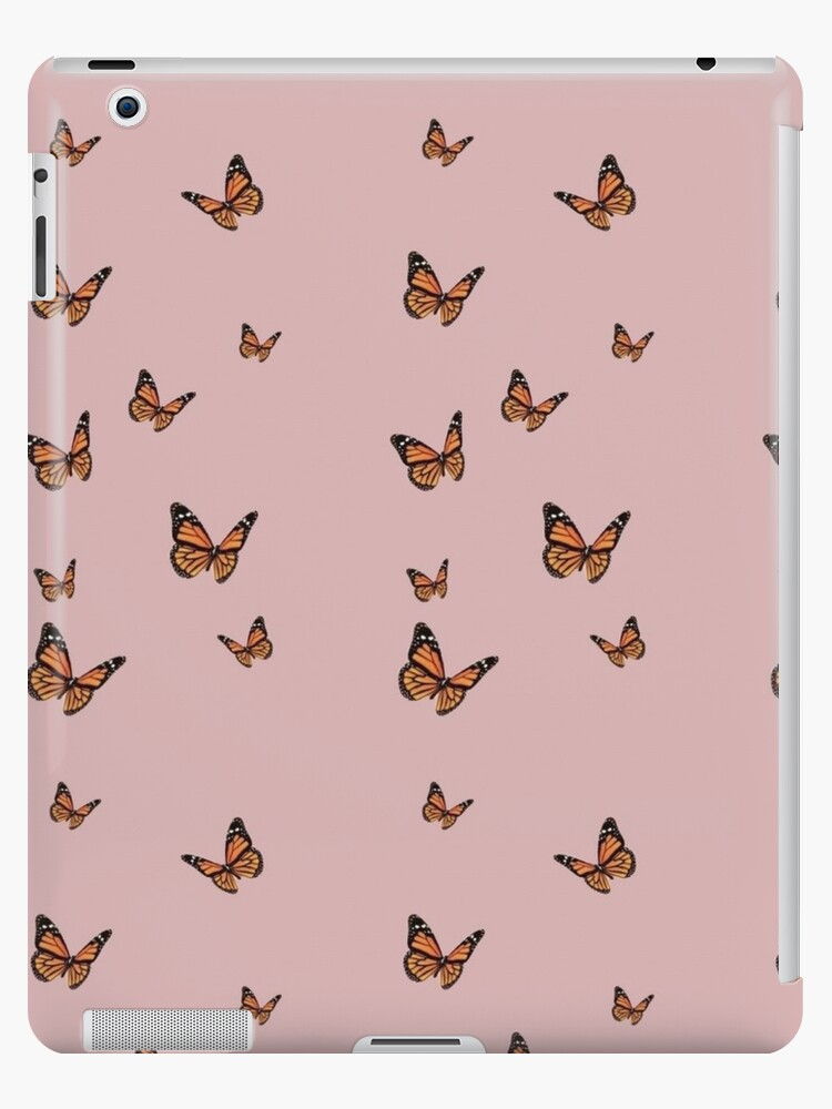 Monarch Butterflies With Pink Background Ipad Case Skin By Paytonstach Redbubble