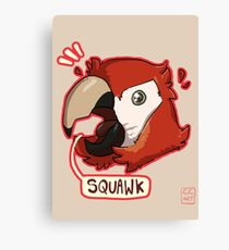 Squawk Canvas Print