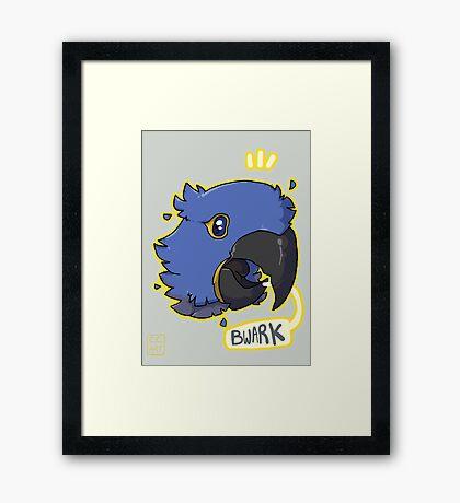 Bwark Framed Print