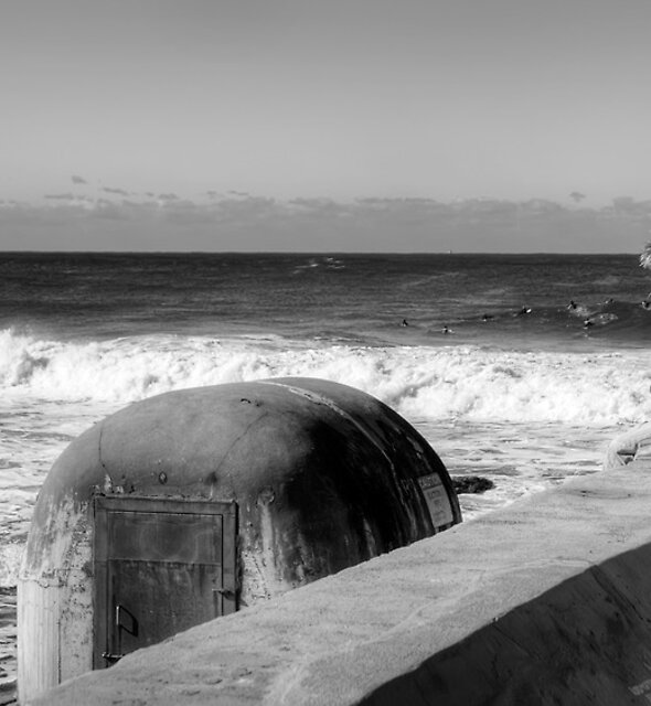 Watcher and the Waves - Newcastle by Jason Ruth