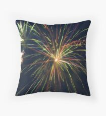 Party Streamers Throw Pillow