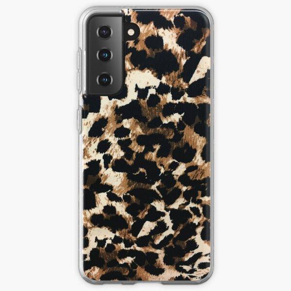 girly feminine African tribal brown leopard print Samsung Galaxy Soft Case