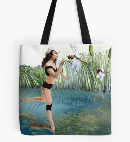 Fireflies on the Enchanted Lake - Arual Tote Bag