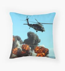 Australian Army helicopter signed Throw Pillow