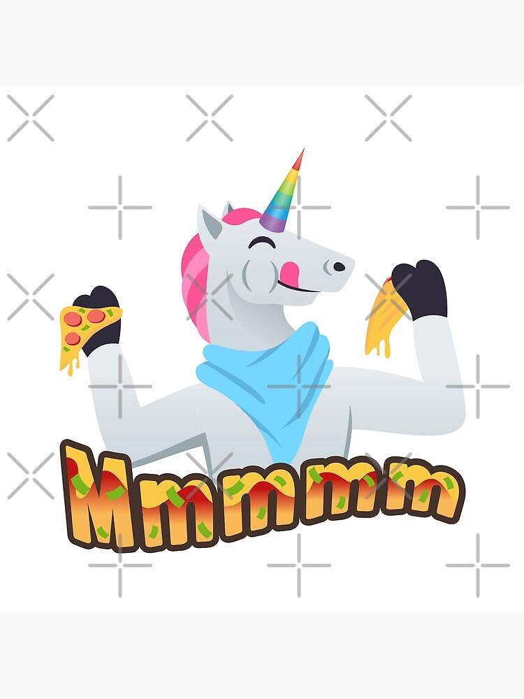 Pizza Lover Unicorn Emoji Loving Pizza Cartoon by el-patron