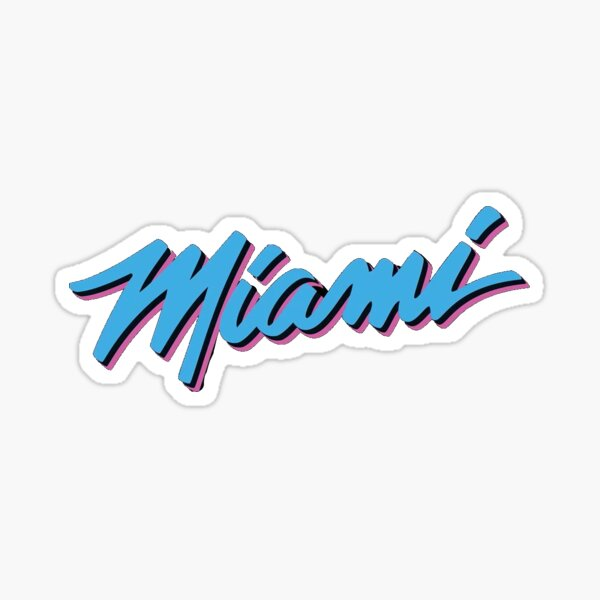 Miami Heat Vicewave Sticker By Anaarias0425 Redbubble