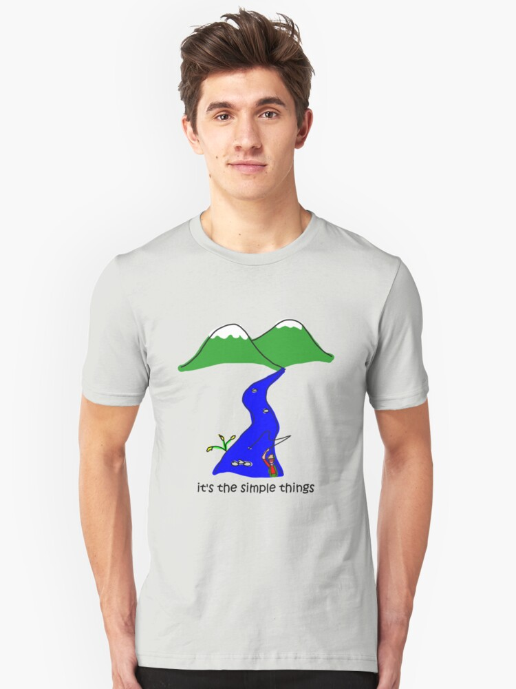 Fly Fishing - Simple Things Unisex T-Shirt Front