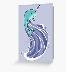 Narwhal Surf Greeting Card