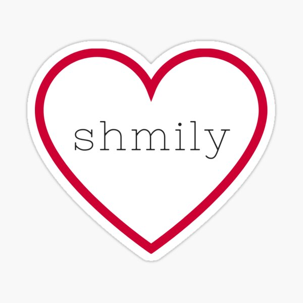 shmily (See How Much I Love You) in Red Heart Sticker