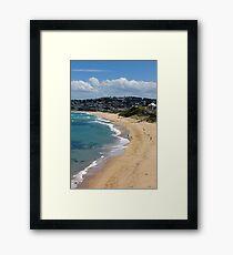 The Golden Shores Of Bar Beach Framed Print
