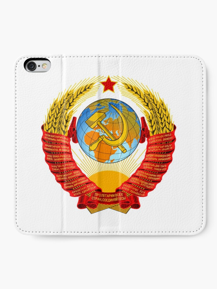 Alternate view of History of the Soviet Union (1927–1953) State Emblem of the Soviet Union iPhone Wallet