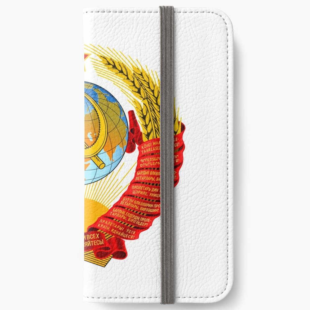 History of the Soviet Union (1927–1953) State Emblem of the Soviet Union iPhone Wallet