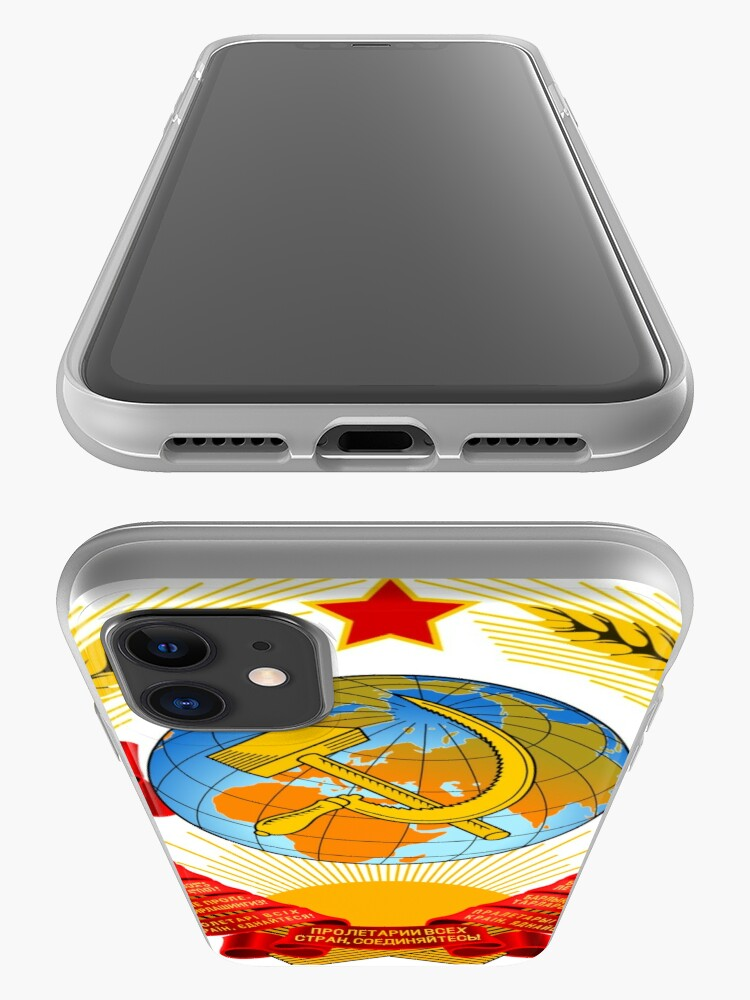 Alternate view of History of the Soviet Union (1927–1953) State Emblem of the Soviet Union iPhone Case & Cover