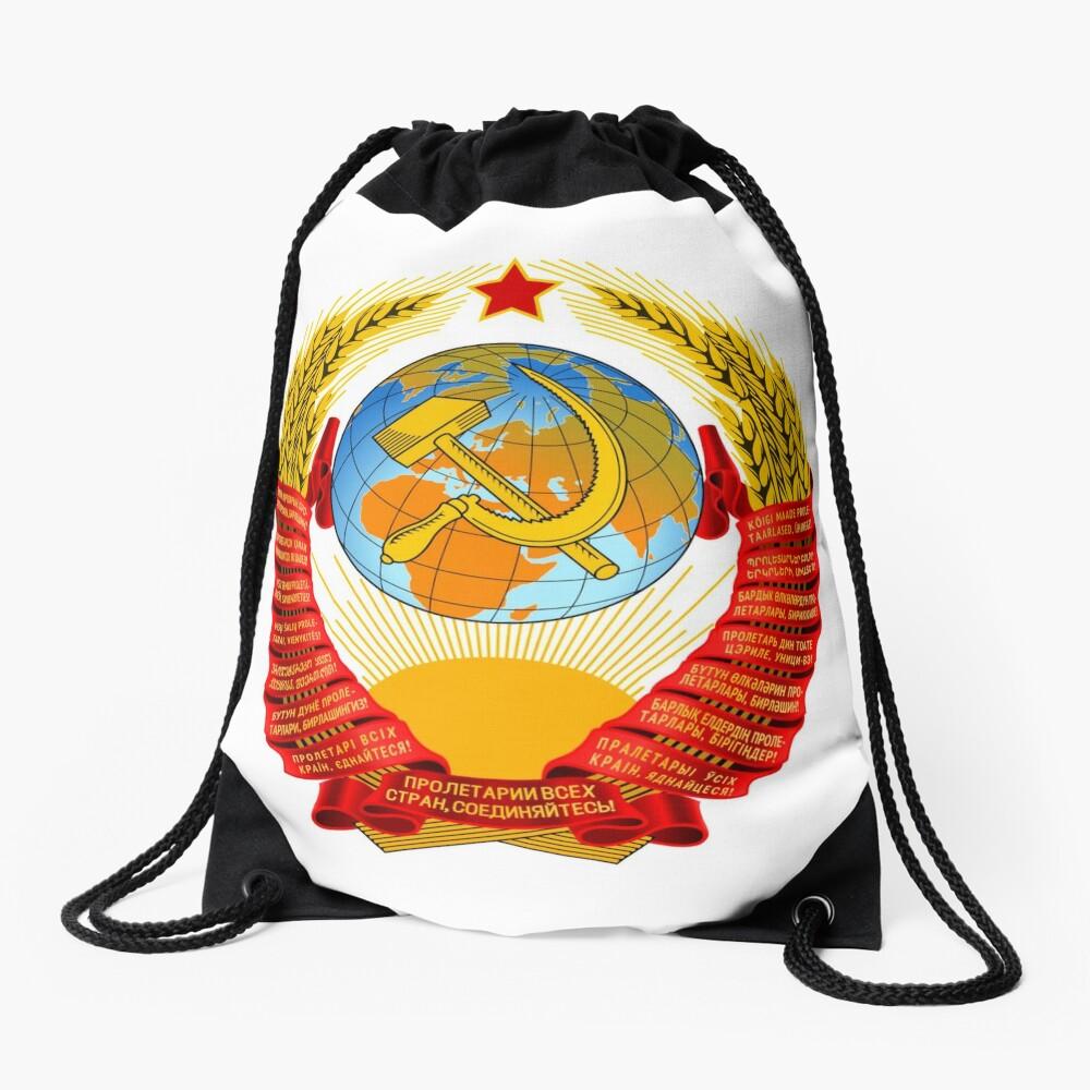 History of the Soviet Union (1927–1953) State Emblem of the Soviet Union Drawstring Bag