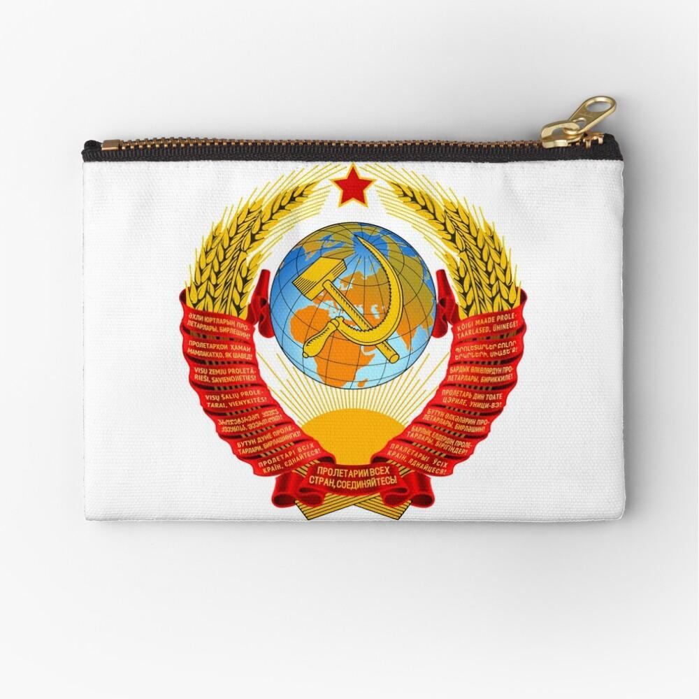 History of the Soviet Union (1927–1953) State Emblem of the Soviet Union Zipper Pouch