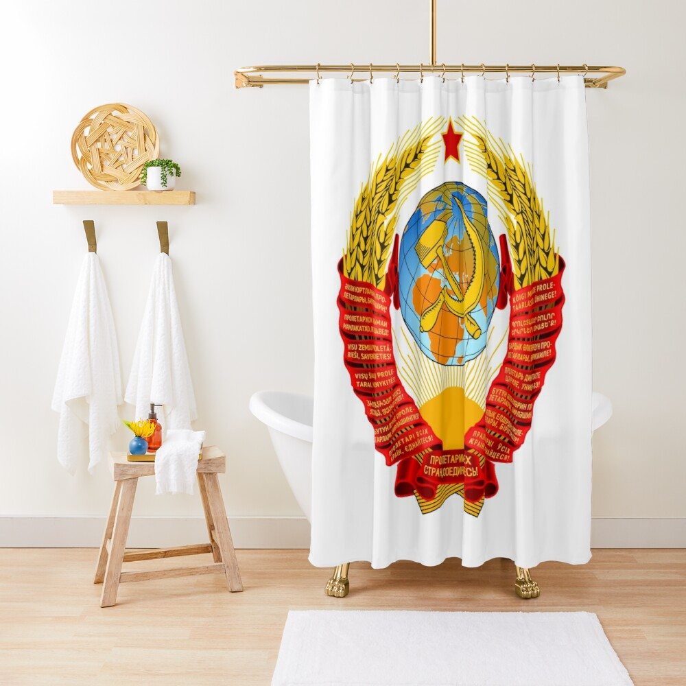 History of the Soviet Union (1927–1953) State Emblem of the Soviet Union Shower Curtain