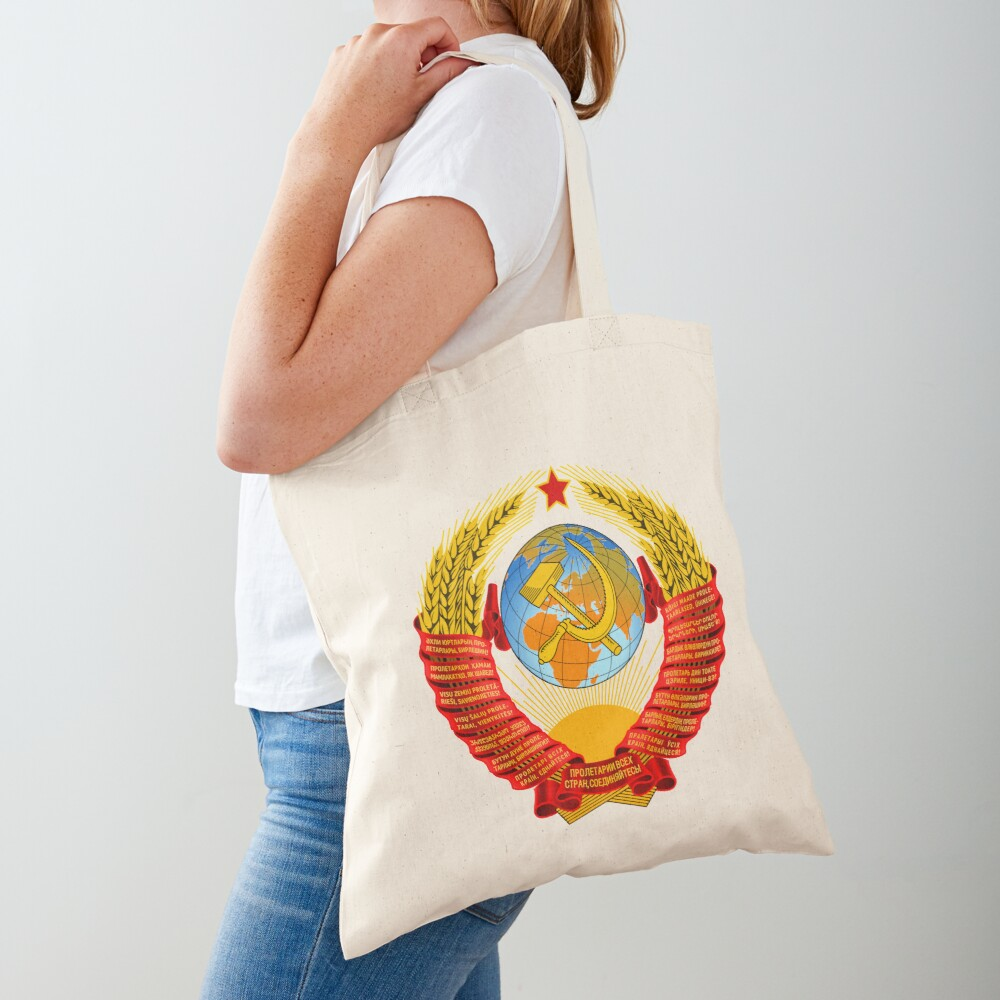 History of the Soviet Union (1927–1953) State Emblem of the Soviet Union Tote Bag