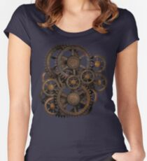 Infernal Vintage Steampunk Gears on your Gear Women's Fitted Scoop T-Shirt