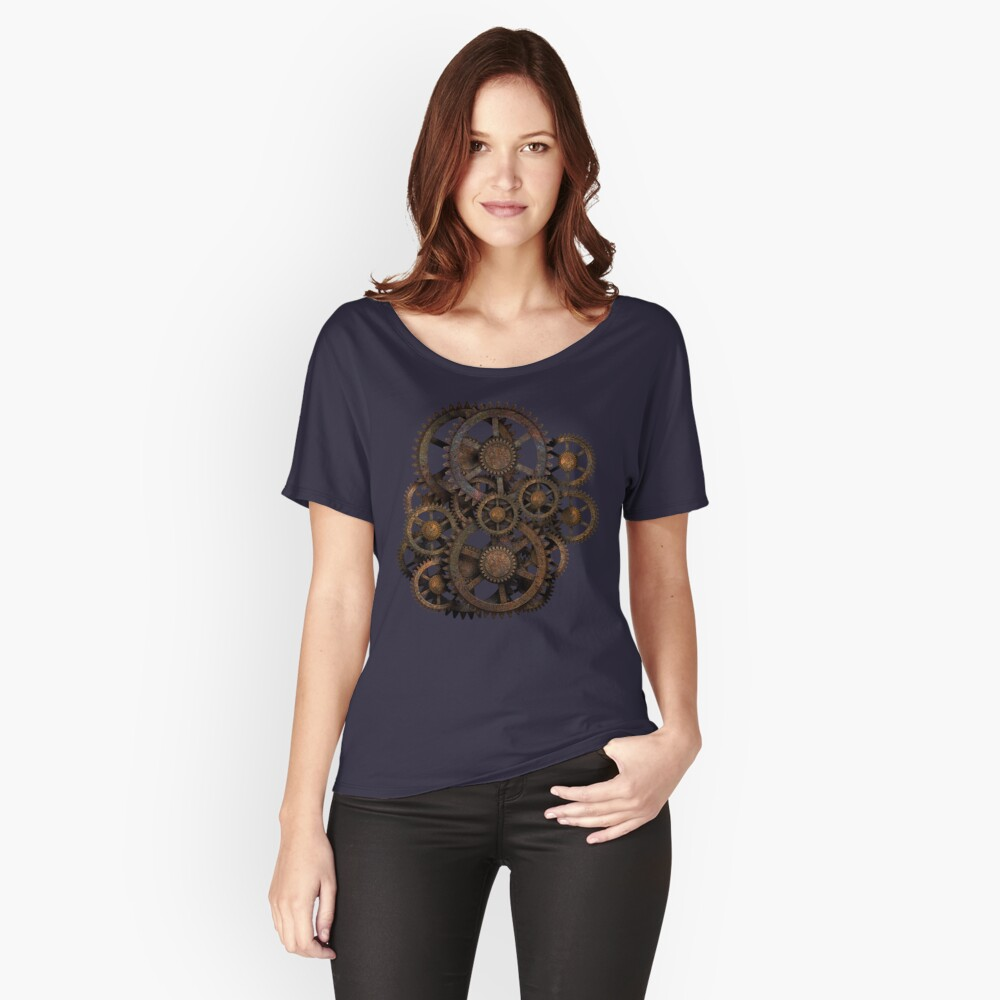 Infernal Vintage Steampunk Gears on your Gear Relaxed Fit T-Shirt