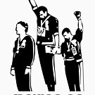 1968 Olympics Black Power Salute V2 by thehiphopshop