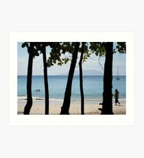 Sequential Beach Art Print