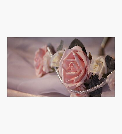 Roses ~ Pearls ~ Love Photographic Print