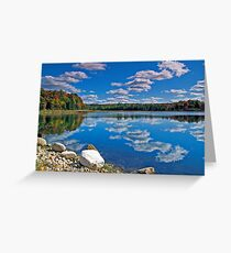 Rugg Pond Reflections Greeting Card