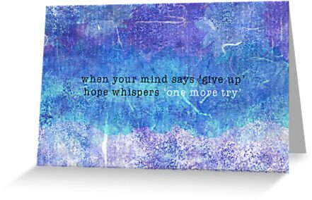Hope Whispers Card by Louise Parton