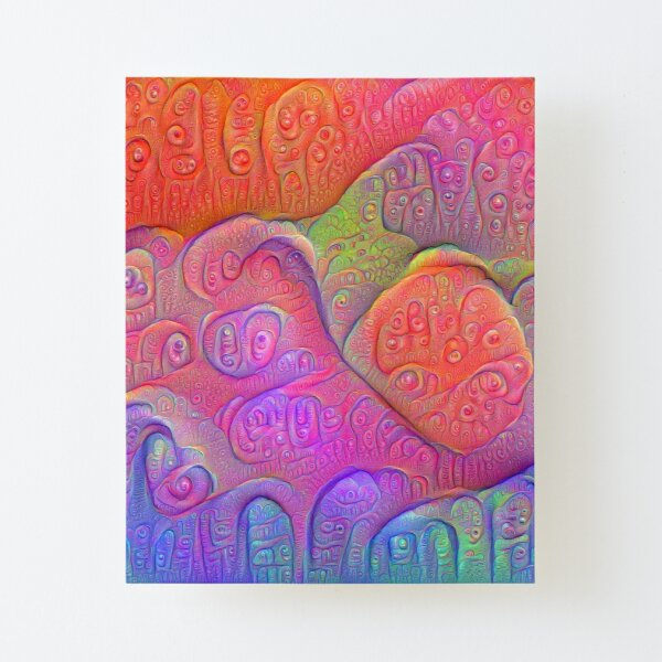 DeepDream Tomato Steelblue Canvas Mounted Print