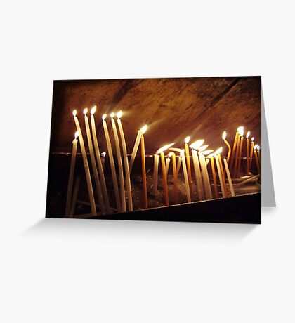 sacred candles Greeting Card