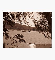 Boats on the water near Nafplio Photographic Print