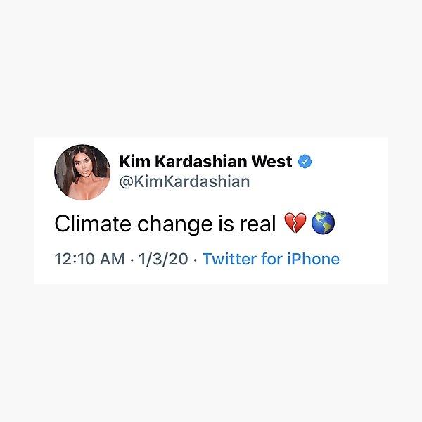 el cambio climático es real </ 3 Lámina fotográfica