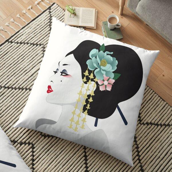 Art de la Geisha japonaise Coussin de sol