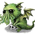 Cute Cthulhu Dragon by DianaLevinArt