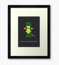Dragon cat  Framed Print