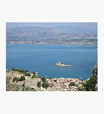 Nafplio from Palamidi Photographic Print