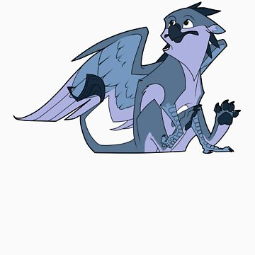 Blueberry gryphon by Encsi-gryphon