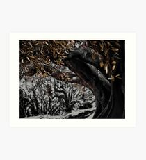 inking in the woods Art Print