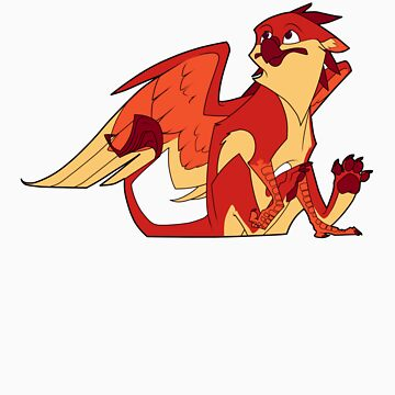 Red apple gryphon by Encsi-gryphon