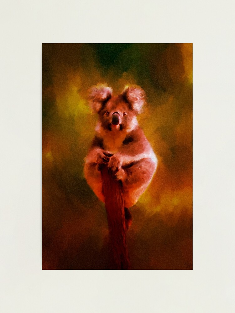 Alternate view of Koala in the Burning Australian Bush Photographic Print
