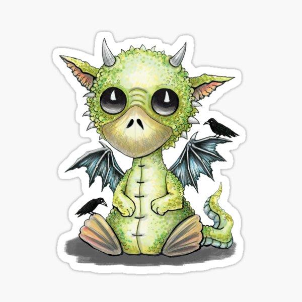 Cute Dragon Ducky Sticker