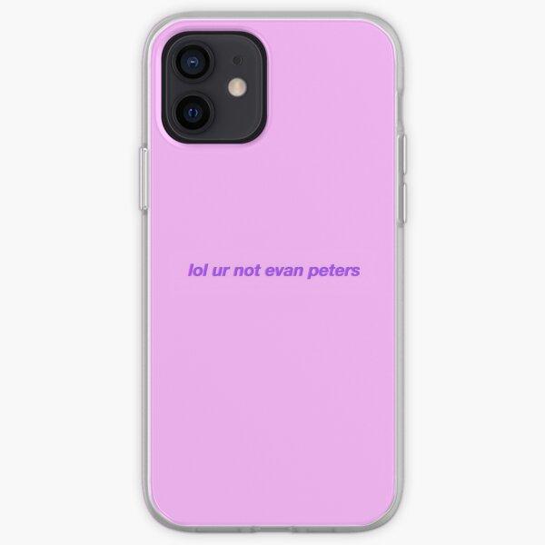 lol ur not evan peters iPhone Soft Case
